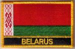 Belarus Embroidered Flag Patch, style 09.